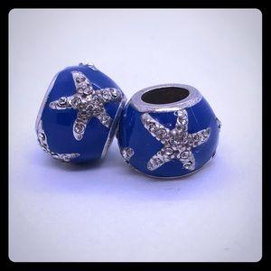 Starfish charm beads